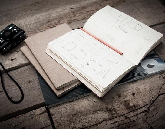carnet de notes en cuir recycl. Black Bedroom Furniture Sets. Home Design Ideas