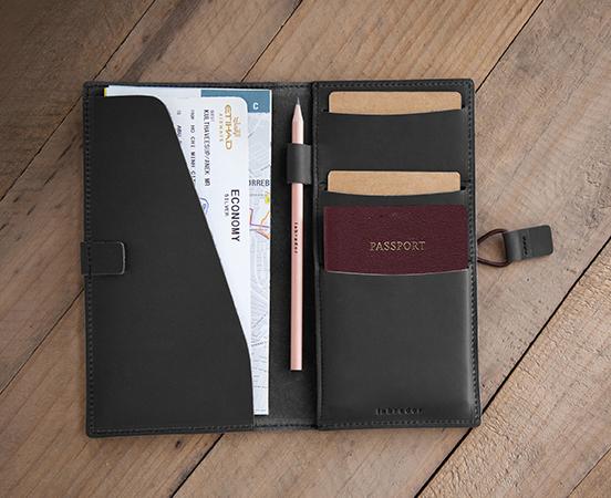 Compagnon De Voyage Porte Passeport Familial En Cuir - Porte passeport cuir