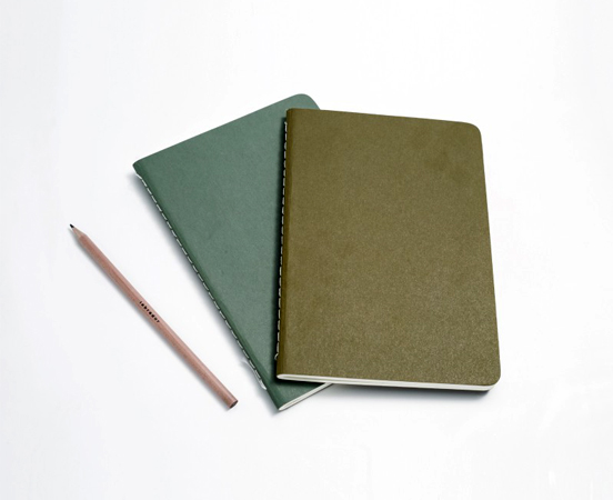 Lot de 2 carnets en papier recyclé Stitch