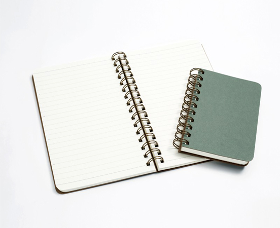 Lot de 2 carnets de notes à spirale en papier recyclé