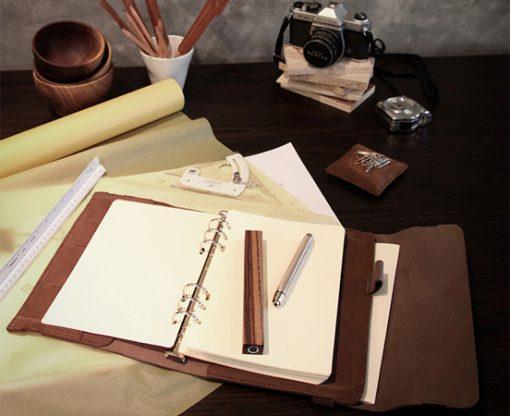 agenda-carnet-note-cuir-organizer-carnets-cadeau-affaire-lakange-labrador-elastique