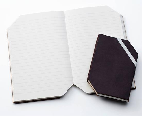 Carnet de notes à couverture rigide et marque-pages en papier recyclé