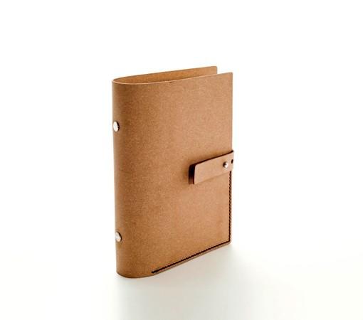 carnet de note organiseur cologique en cuir recycl. Black Bedroom Furniture Sets. Home Design Ideas