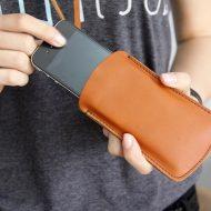 Etui de téléphone portable en cuir