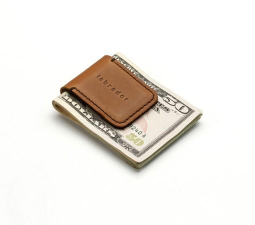 pince à billet-cuir-chic-cadeau-affaire-lakange-labrador-money clip (2)