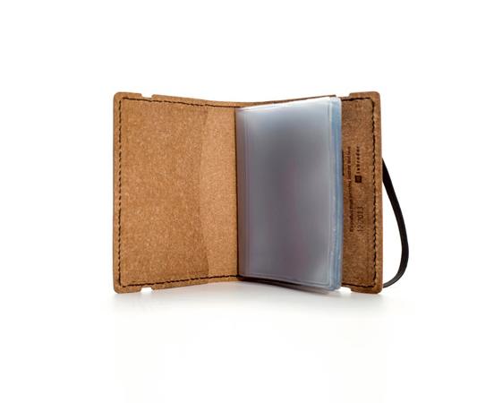 Porte cartes de visite en cuir recycl fermeture lastique - Porte carte de visite en cuir ...