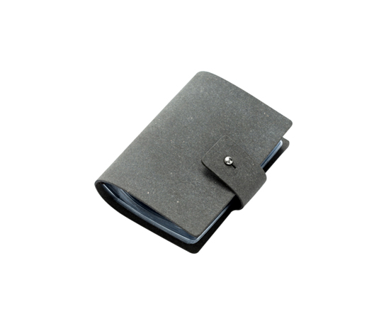 Porte cartes de fidélité en cuir recyclé à fermoir