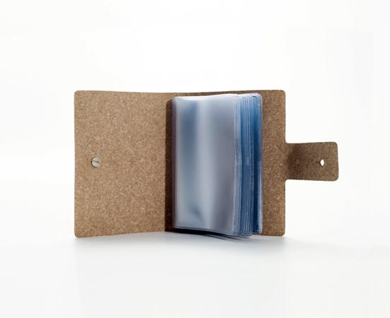 Porte Cartes De Visite En Cuir Recyclé à Fermoir Clou - Porte carte de visite cuir