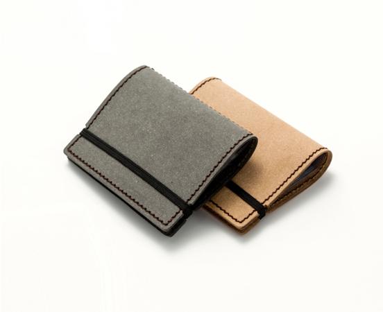 Porte cartes de visite en cuir recycl fermeture lastique - Porte carte de visite cuir ...