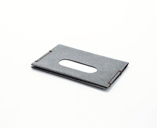Porte cartes en cuir recyclé Navigo