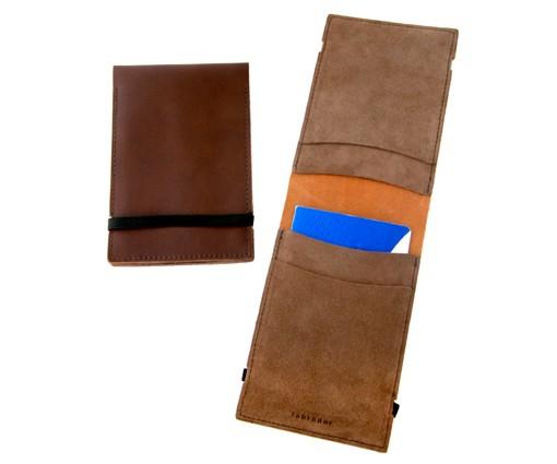 Porte passeport - carte grise en cuir à élastique