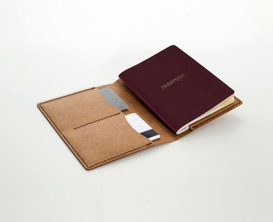 Porte Passeport En Cuir Recyclé - Porte passeport cuir