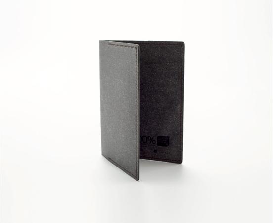 Porte passeport en cuir recyclé