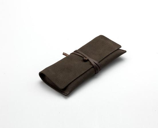 f535039700 Trousse en cuir à lacet - Blague à tabac en cuir pleine fleur