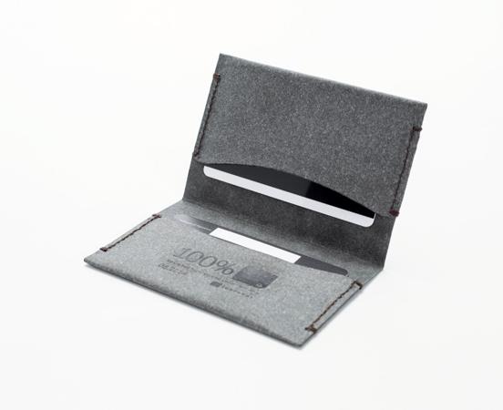 meilleur site web affd4 6310e Porte cartes ultra fin en cuir recyclé Double