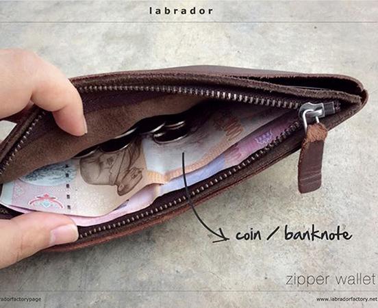 Trousse portefeuille en cuir pour homme et