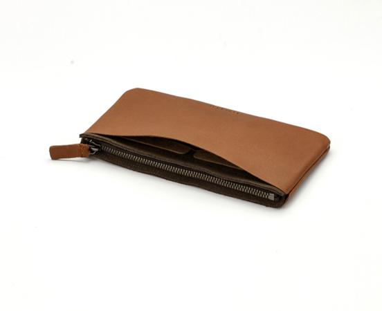 Trousse portefeuille en cuir Zipper M