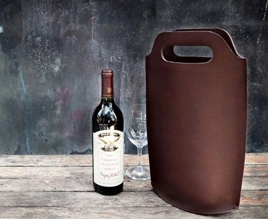 sac porte bouteille cuir - sac seau cuir; cuir lakange - labrador 1