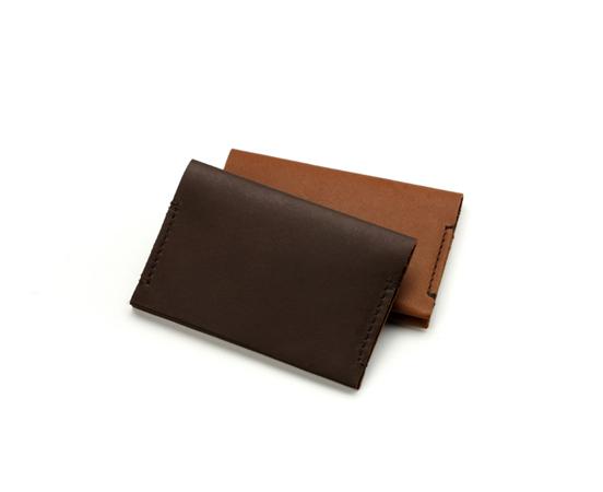 Porte cartes en cuir plat double - Porte carte de visite cuir ...