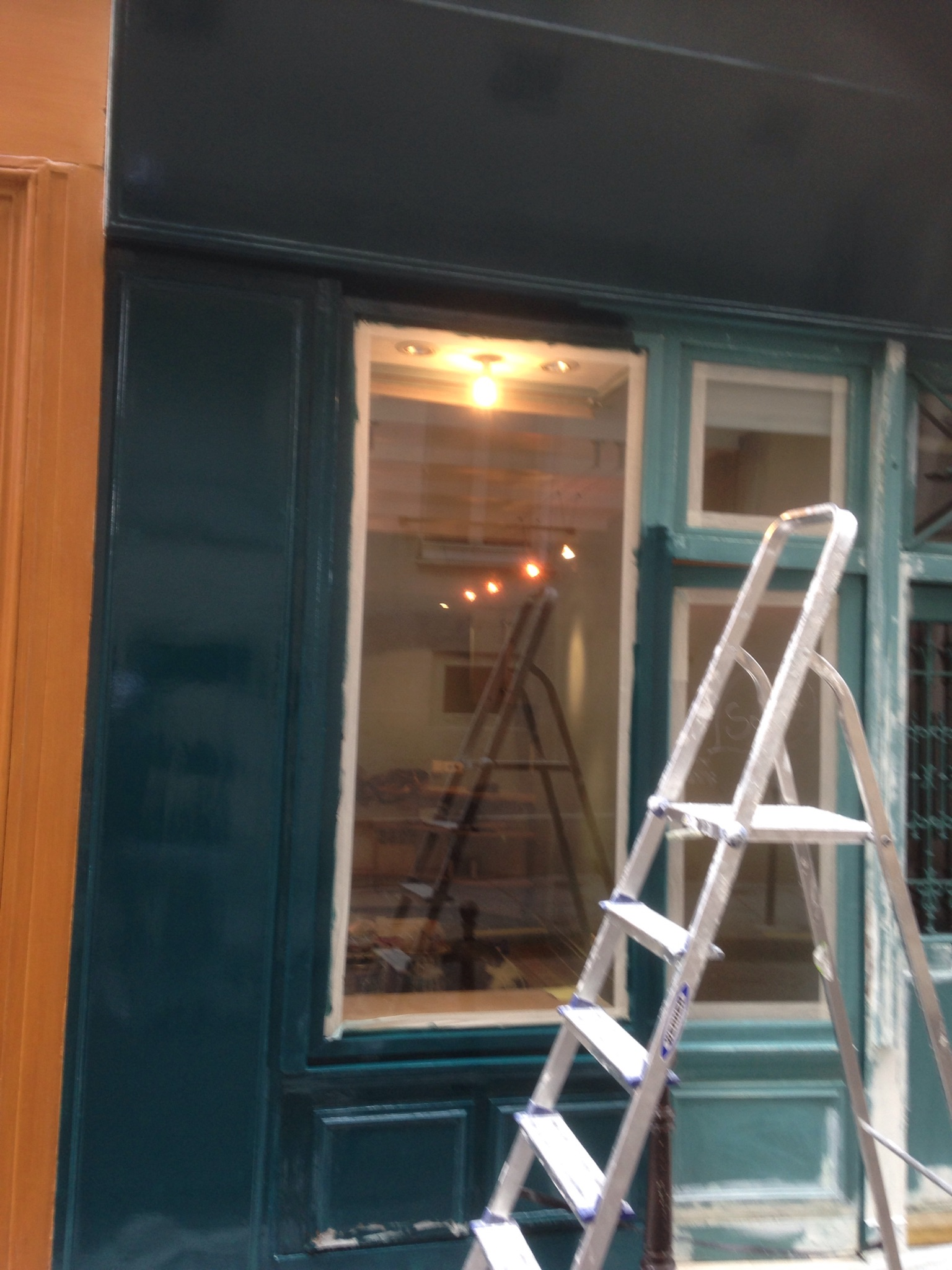Travaux de rénovation de notre boutique