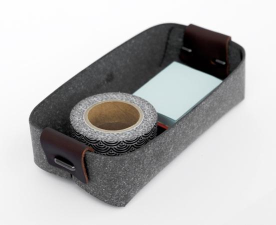 Pot à cartes en cuir recyclé