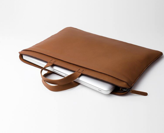 Sacoche en cuir pour ordinateur portable et documents