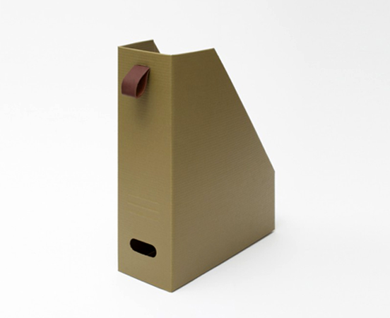 Range-revues en carton recyclé