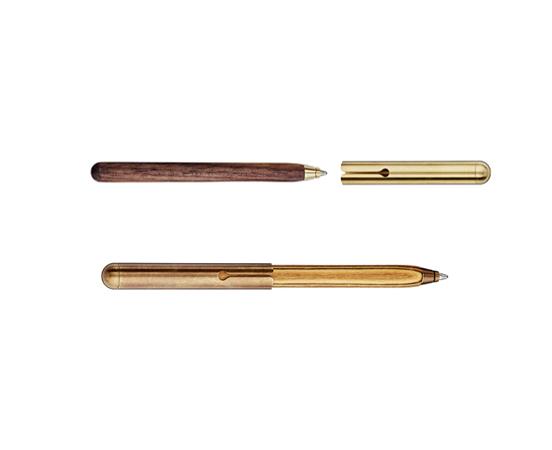 Mini stylo bille en bois Style - Stylo bille de poche en bois et métal e3784a88abb
