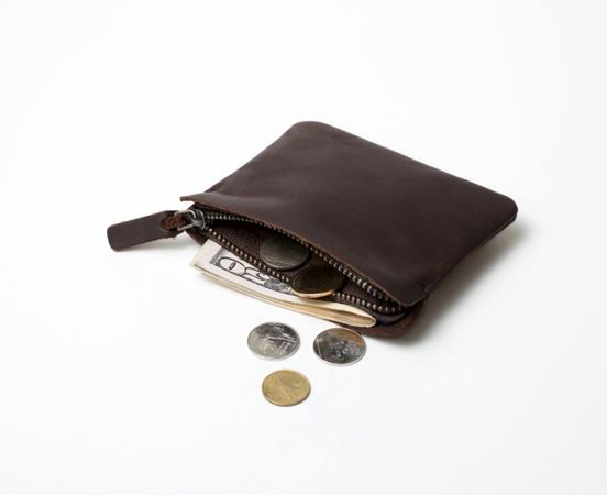 beau look rétro guetter Porte monnaie zippé en cuir Zipper S